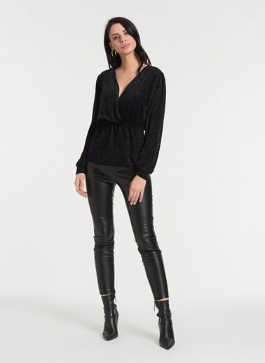 Styletag Kruvaze Bluz Siyah